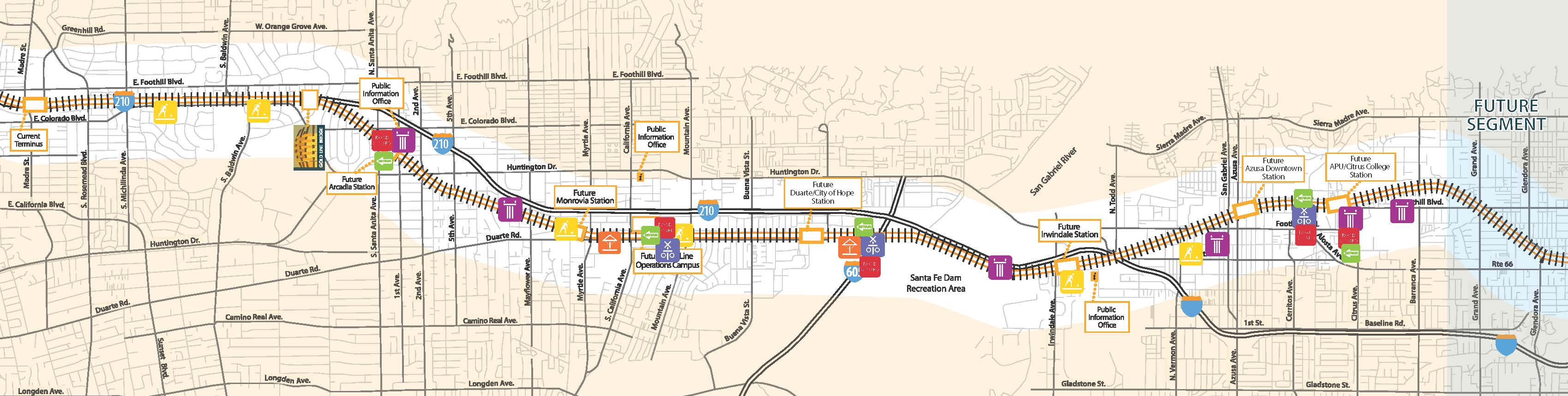 Foothill Gold Line Construction Activity Map