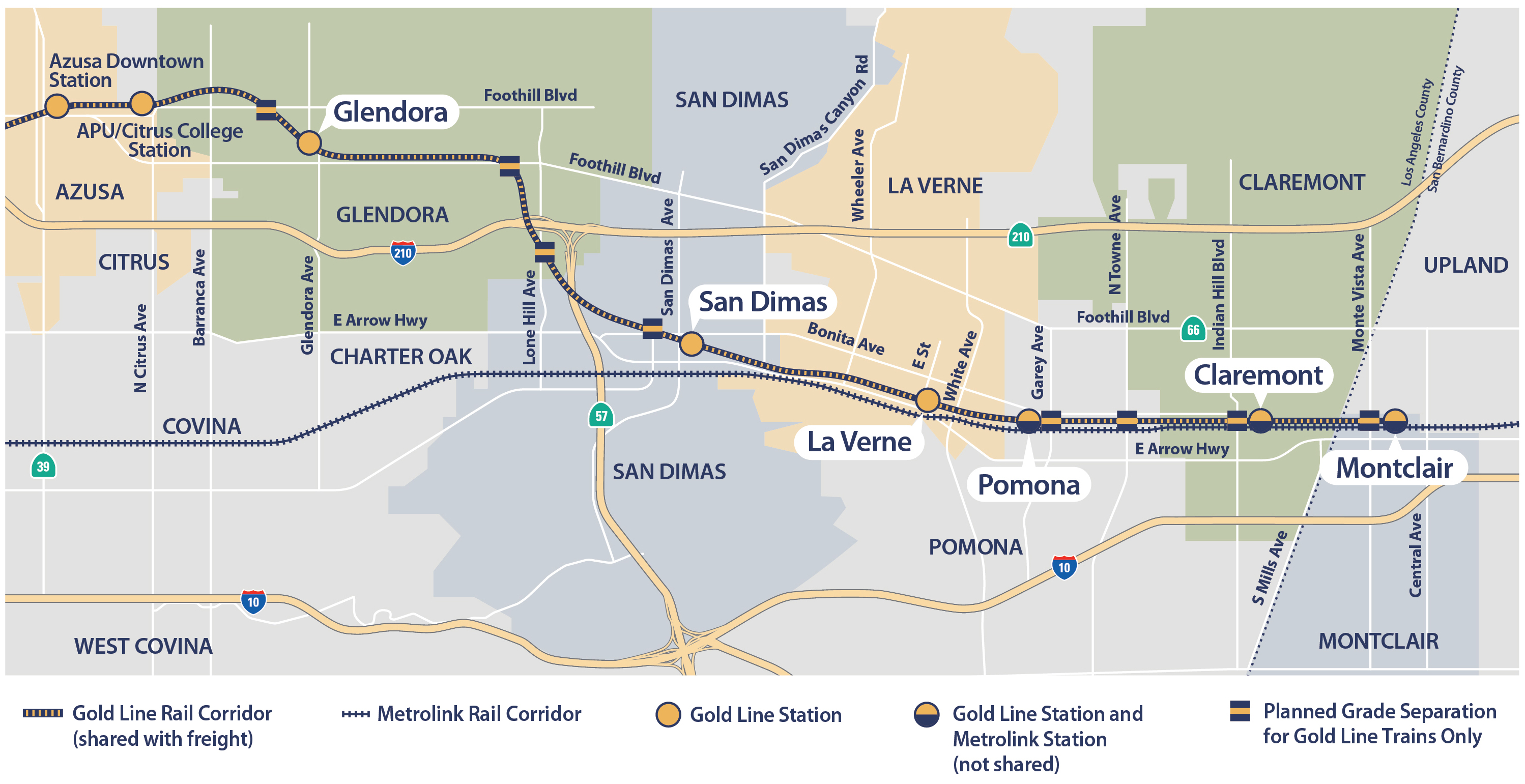 Media resources foothill gold line glendora to montclair segment map available format jpg pdf metro gold line publicscrutiny Gallery