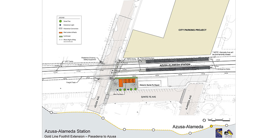 Azusa Downtown | Foothill Gold Line on